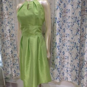 Alfred Sung Size 12 Lime Green Dress